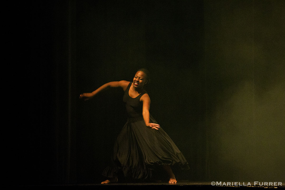 Photos at OWLA of Miss Winfrey, girls and a dance performance.