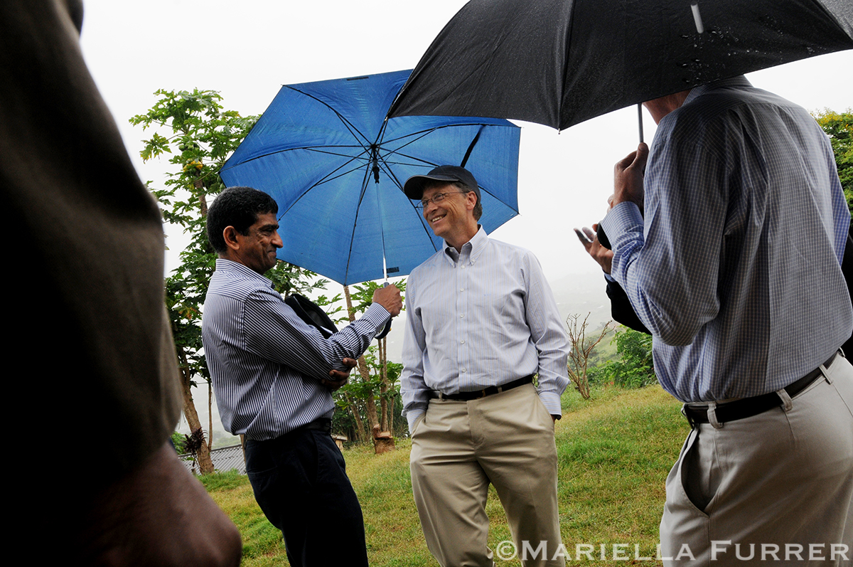 Photos of Bill Gates visit to South Africa