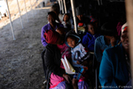 Patients wait for their turn to be screened by Student dentists before being sent to the dental clinic. The Phelophepa Health Train sponsored by Transnet Foundation, Roche, and Air Liquide stops at Wincanton in the Northern Cape to provide services to surrounding areas. The train has a dentist carriage, Optomitrist carriage, and Psychology carriage. 40 Students arrived today for two weeks. Psychology and Optometry Students are from University of KwaZulu Natal. Nursing Students are from University of Johannesburg and Dental Students are from University of Witwatersand in Johannesburg.