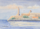 Morro Castle, Havana, Cuba, a Watercolor by Martha Shilliday
