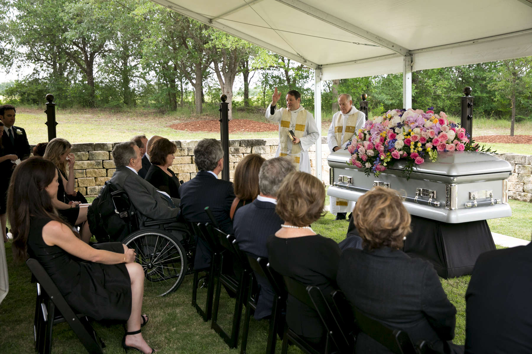 The funeral of former First Lady Barbara Bush on April 21, 2018. Photo by Paul Morse