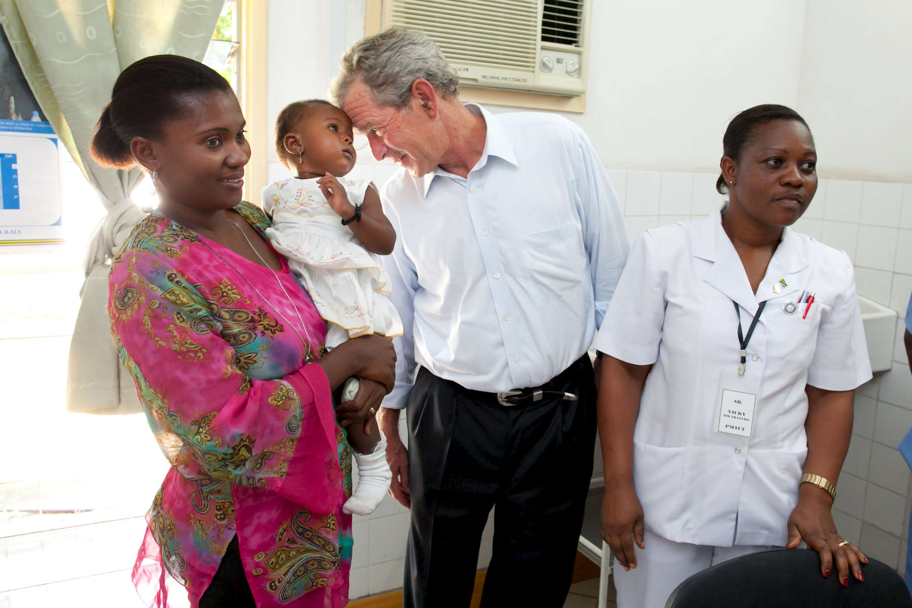 The trip of President and Mrs. Bush to Dar es Salaam, Tanzania on December 1, 2011.
