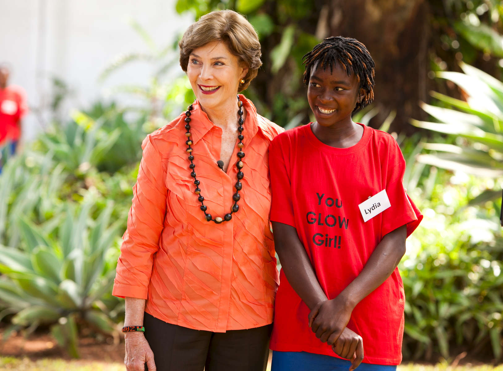 The trip of President and Mrs. Bush to Lusaka, Zambia on December 3, 2011. VISIT TO GIRLS LEADING OUR WORLD (GLOW)