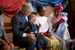 The trip of President and Mrs. Bush to Addis Ababa, Ethiopia  on December 3, 2011.  VISIT TO ST. PAUL'S HOSPITAL