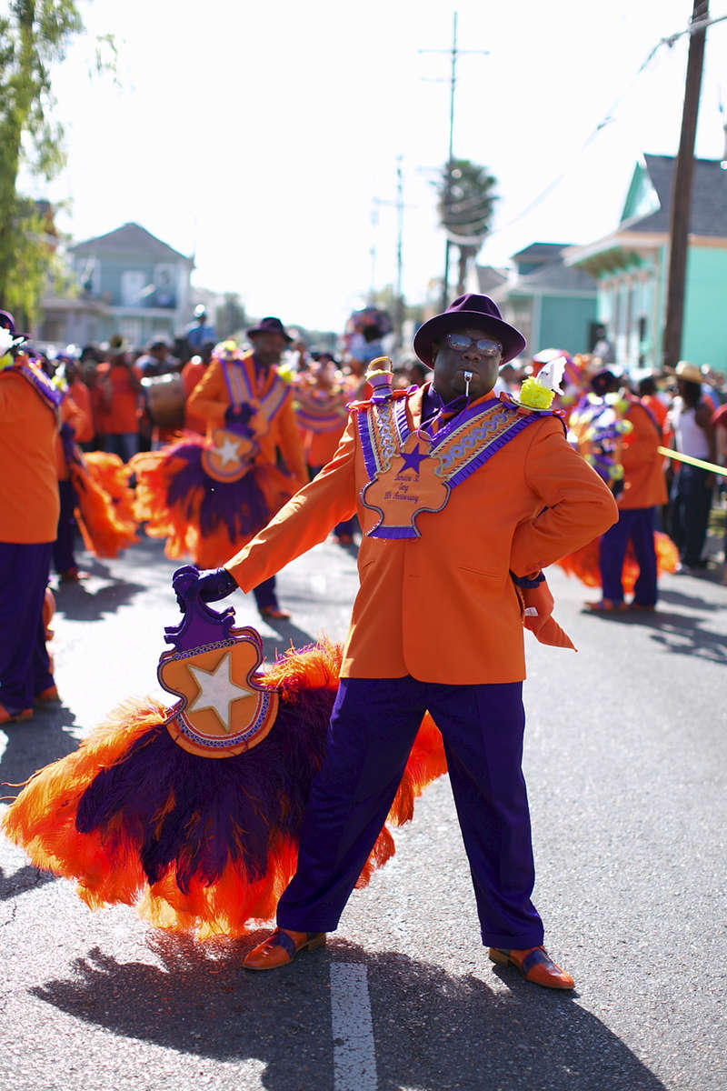 Dumaine Street Gang parade in Treme on December 2, 2012.