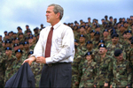 GWB: 1:20pm President Bush: Remarks to Troops and Families. Ft. Drum, NY.Fort Drum, New York.web RELEASED TO: RNC Calendar 083004 approved by Mrs. Bush, Sec. Card, Karl Rove, Dan Bartlett