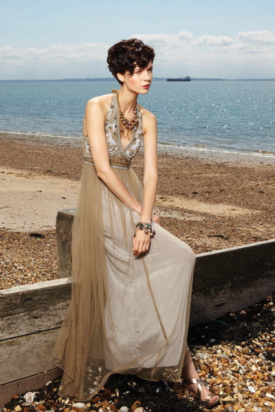 40031 ALPS HALTER DRESS LONG, WARM BEIGE (WB-16)__80033 JHELA NECKLACE, GOLD (G-57)__80026 SILL NECKLACE, SILVER (SI-69)