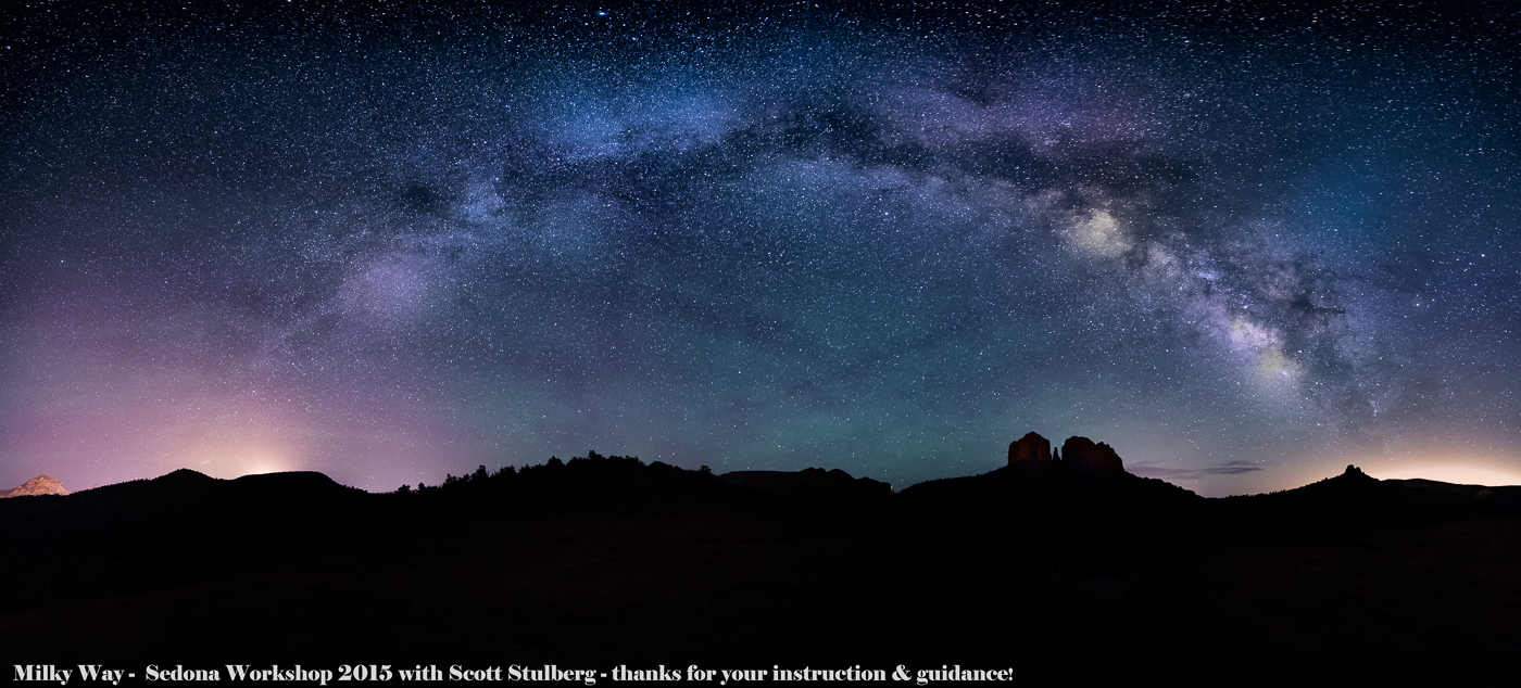 Credits to photographer Scott Stulberg for guidance - complex milky way shots.