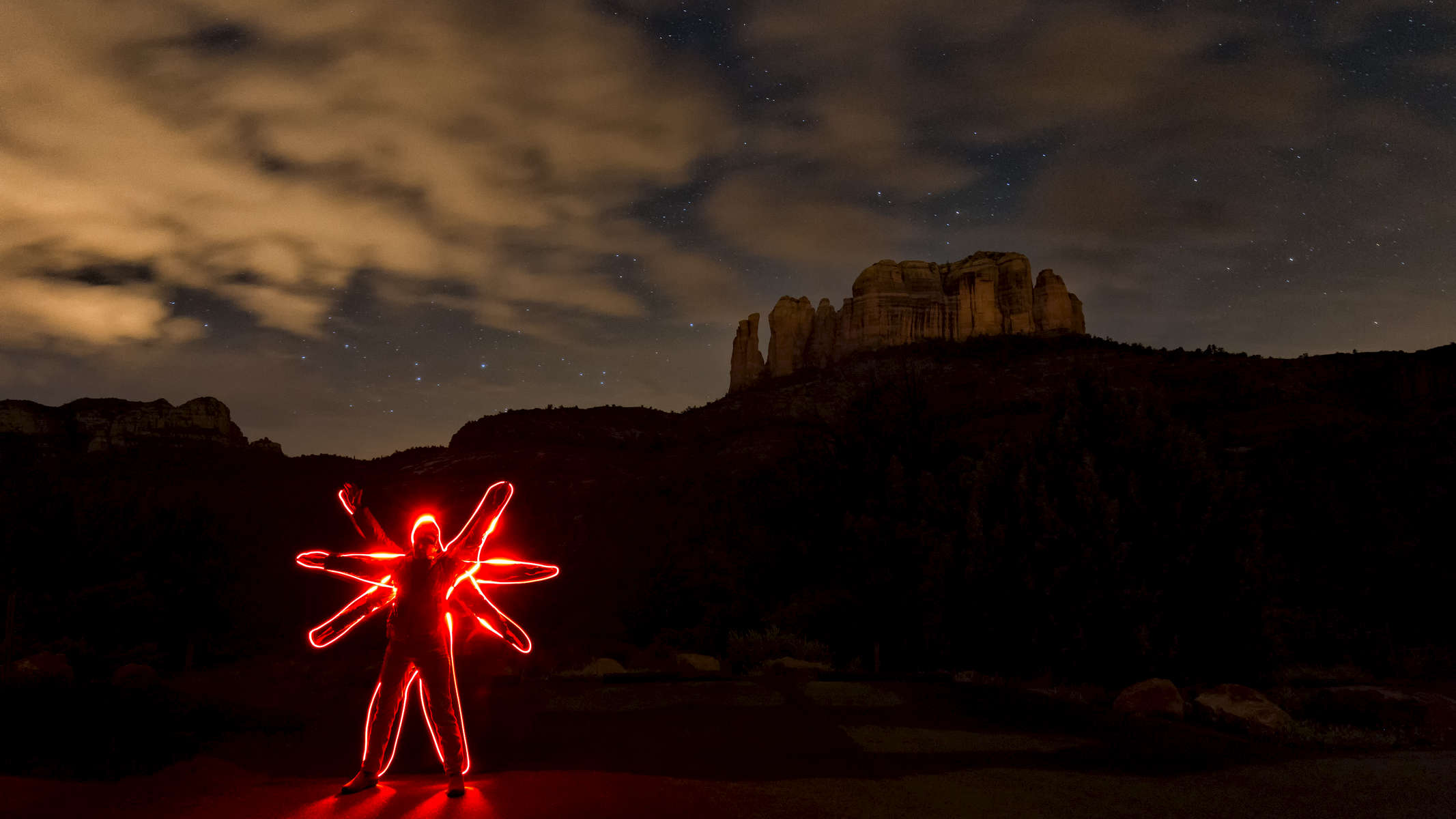 Light Painting in Sedona
