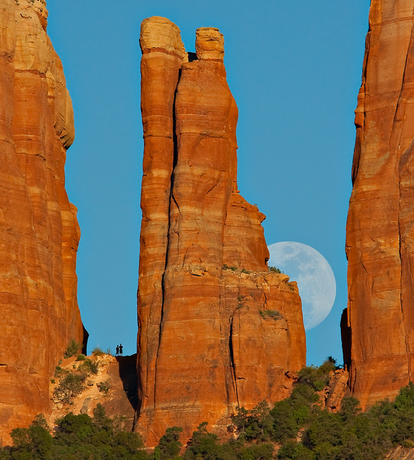 Full Moon Cathedral Rocks SEDONA
