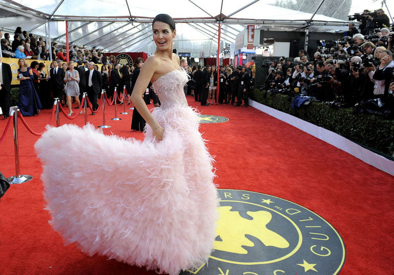 Actress Angie Harmon arrives at the TNT/TBS broadcast of the 17th Annual Screen Actors Guild Awards held at The Shrine Auditorium  on January 30, 2011 in Los Angeles, California. 20823_008_JS2_0156.JPGTNT/TBS Broadcasts The 17th Annual Screen Actors Guild Awards - Red Carpet StyleThe Shrine AuditoriumLos Angeles, CA United StatesJanuary 30, 2011Photo by Jordan Strauss/WireImage.comTo license this image (63262984), contact WireImage.com