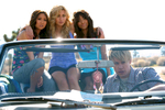 ocean pacific shoot for Iconix - Rob Kardashian, Chord Overstreet, Mark Salling, Aly Michalka, Brenda Song and Kat Graham