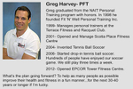 Greg Harvey is a personal trainer and founder of Fit \'N\' Well Personal Training Inc.