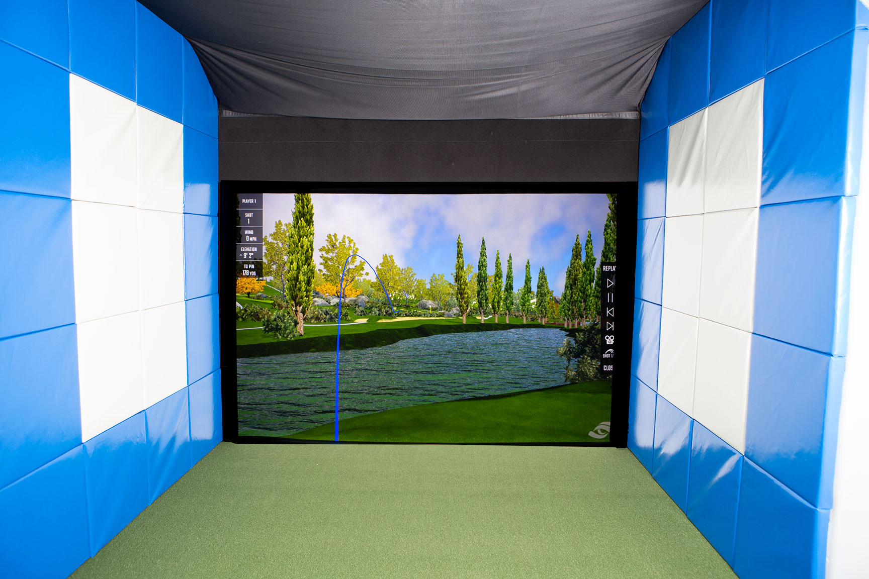 Golf Simulator at Scotia Place Fitness Centre